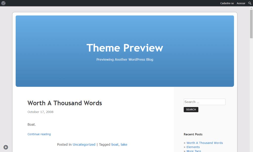 wordpress template kubrick
